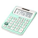Solar Powered Standard Functional Calculators - Green