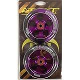 Grain 110mm ACW Lot de 2roues avec roulements à billes Purple Core/Black PU