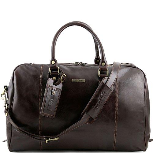 Tuscany Leather - TL Voyager - Sac de voyage en cuir - Marron foncé