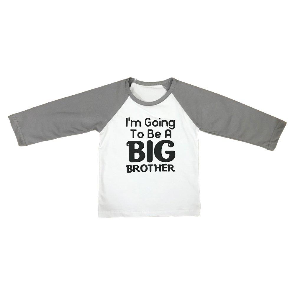 Boys Raglan Long Sleeve Birthday Shirt Jersey Kids Cotton T-Shirt Tees For Baby Toddler