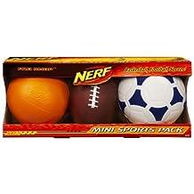 Nerf Balls Mini Sports Pack Basketball Football Soccer