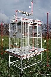 Bird Parrot Cage Macaw Cockatoo African Grey Q32-3223 S