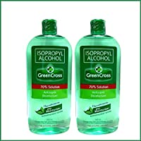 Green Cross Isopropyl Alcohol 70% with Moisturizer, 500ml - Pack of 2