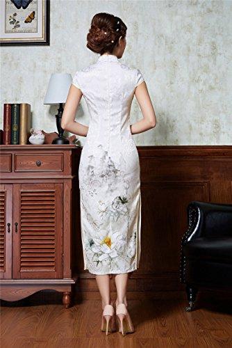 Montant Robe Col Couleur Cheongsam Mariage Qipao Soirée Femme Chinoise 1 Rétro Party Acvip Longue Pour qnwa1nx