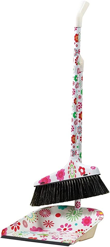 Amazon Com Flower Power Floral Broom And Dustpan Set Health Personal Care