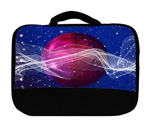 Sticker Skin Print Purple Ball Inspirational Waves Stars Printed Design   Canvas Lunch Bag By Smarter Designs