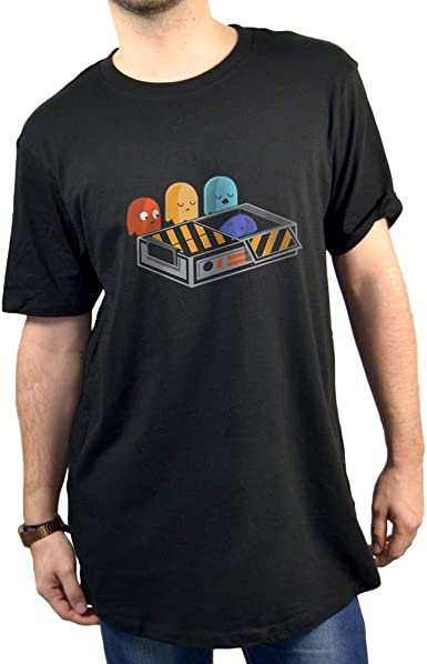 SUPERMOLON Camiseta Unisex Comecocos Modelo Long: Amazon.es ...