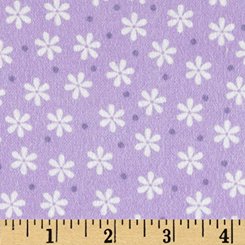 Cozy Cotton Flannel Floral Lavender Fabric By The Yard (Purple Flannel Fabric)
