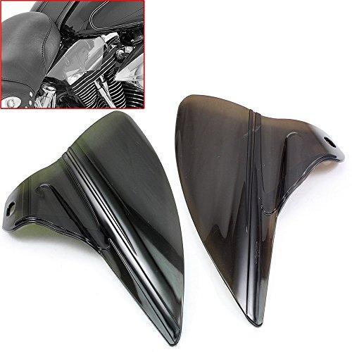 Flt Flht Flhs Road King - Reflective Saddle Shield Air Heat Deflector Kit For Harley Touring FLH FLT Electra Road Street Glides & Trikes Road King 2009-2015 (Smoke)