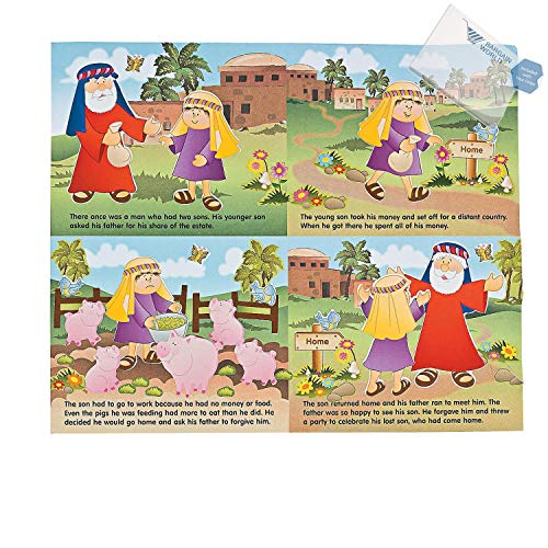 Bargain World Paper Prodigal Son Sticker Scenes (With Sticky Notes) -