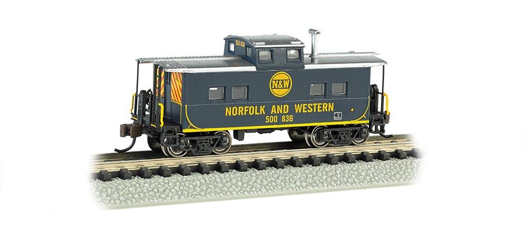 Bachmann Industries   500 836 Northeast Steel Caboose Norfolk And Western blu Train Car, N Scale