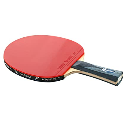 GDSZ Table Tennis Racket Long Short Handle Ping Pong Paddle 3 Balls With Bag Light Tip