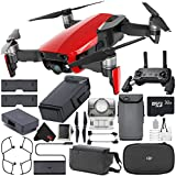 DJI Mavic Air Fly More Combo (Flame Red) CP.PT.00000174.02 + DJI Intelligent Flight Battery for Mavic Air + 32GB microSDHC Card + Memory Card Wallet + Deluxe Cleaning Kit Bundle