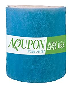 Koi Pond Filter Media Pad - Cut to Fit Roll (Dye-Free/Blue Bonded) - 1.25 Inch Thickness by AQUPON (12 ft, Blue)