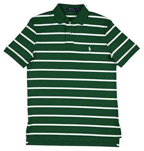 Polo Ralph Lauren Men's Pony Logo Striped Interlock Polo Shirt (M, - Lauren Striped Ralph