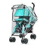 CoWalkers Cubierta de lluvia para cochecito de bebé universal Cubierta de protección contra el polvo contra el viento paraguas de viento impermeable para cochecitos