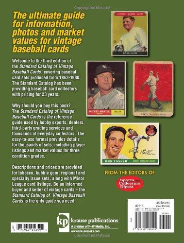 Standard Catalog Of Vintage Baseball Cards Paperback October 18