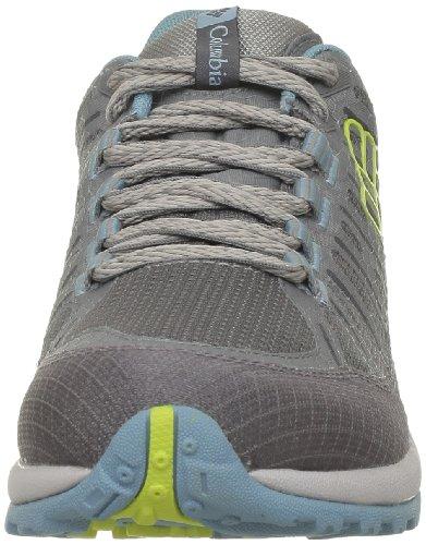 Columbia PEAKFREAK ENDURO OUTDRY BL3841 - Zapatillas de montaña para mujer Gris (Grau (Boulder, Fresh Kiwi 003))