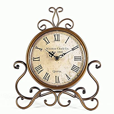 Mode Home Bronze Vintage Iron Desk Clock Decorative Kitchen Table Clock Factory Direct - Factory Direct,Vintage Iron Desk Clock Made of Iron,Looks Vintage and Old Suitable for Hall,Shoe Cabinet,Restaurant,Bedroom Nightstand,Dresser,Garden - clocks, bedroom-decor, bedroom - 518oCRi0QKL. SS400  -