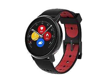 Inkasus Montre connectée Revolution - cadran noir et bracelet rouge/noir