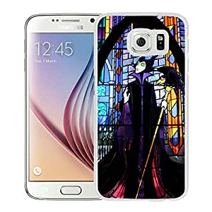 Lovely And Unique Designed Case With Villain Maleficent White For Samsung Galaxy S6 Phone Case
