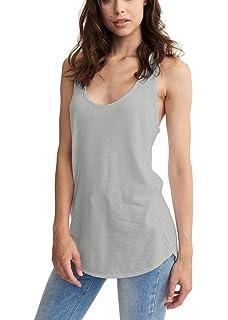 1313558baf65c Mippo Women s Sleeveless Loose Fit Racerback Tank Top Flowy High Low Hem Workout  Shirt
