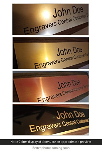Personalized Wooden Executive Business Office Desk Name Plate - Genuine Walnut - CUSTOMIZE - (2x8'') by Engravers Central