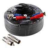SANNCE 30M/100 Feet BNC Video Power Cable Security Camera Wire Cord for CCTV DVR Surveillance System