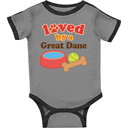 inktastic - Great Dane Infant Creeper 18 Months Ringer Heather and Smoke e133