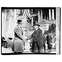 16 x 20 Gallery Wrapped Frame Art Canvas Print of Secty. Baker & first recruit in army 1920 National Photo Co 03a