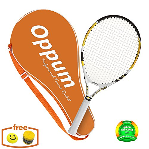 Tennis Racket for Kids Children Toddlers, Coach Recommended Racquet, Include Tennis Bag Overgrip Vibration Dampener. ()