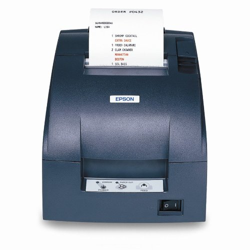 EPSON, TM-U220B, DOT MATRIX RECEIPT PRINTER, SERIAL, EPSON DARK GRAY, AUTOCUTTER