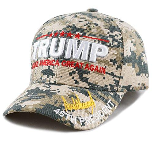 THE HAT DEPOT Exclusive 45th President Make America Great Again 3D Signature Cap (Digi Camo) - Exclusive Cap Hat