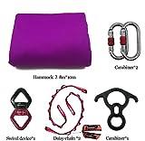 DASKING Premium Aerial Silks Equipment - Safe Deluxe Aerial Kit (Light Purple)