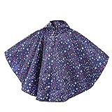 VEFSU Children's Cloak Beautiful Star Print Waterproof Children's Poncho Raincoat