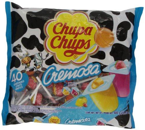 Chupa Chups Lollipops - Yogurt Flavor (40ct. Bag) Fat Free!