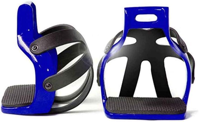 Productos para el cuidado de los caballos Estribos para montar a caballo Antideslizante Pedal para caballos Ecuestre Flex Aluminio Carrera de caballos Sillas de montar Equipo de seguridad 11 × 7cm