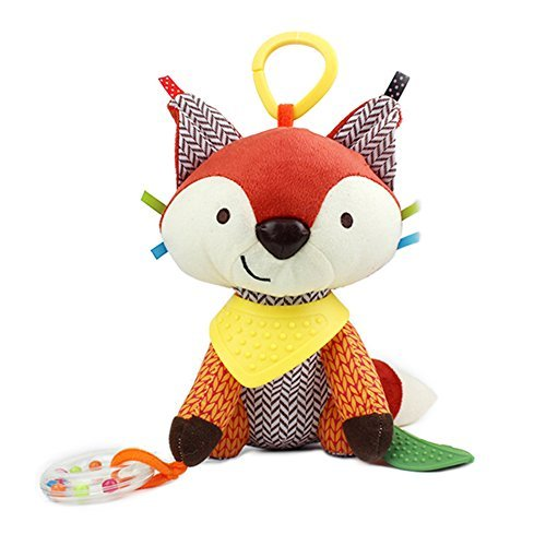 CAIJ Baby Infant Plush Animal Kids Stroller Hanging Fox Toy Pram Cute Doll