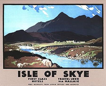 Vintage Style Railway Poster Crianlarich West Highland Line A4//A3//A2 Print
