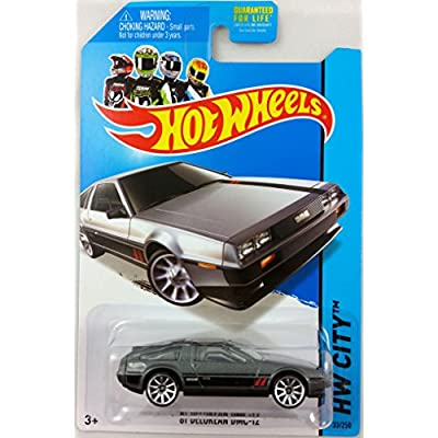 2014 Hot Wheels HW City Speed Team '81 Delorean DMC-12 (Grey with Black & Red Stripes on Sides and Hood) 33/250: Toys & Games