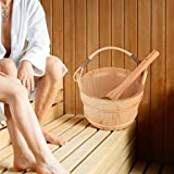 Sauna Barrel, 6L High Capacity Wooden Sauna Bucket