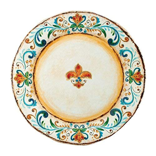 Gourmet Art Tuscany Melamine 19-inch Round Platter