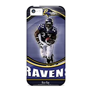 Iphone 5c TYq4885SPUI Custom Attractive Baltimore Ravens Pattern Shockproof Hard Phone Cases -LauraAdamicska