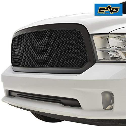 EAG Mesh Grille ABS Replacement Matte Black Fit for 13-18 Dodge Ram 1500 ()