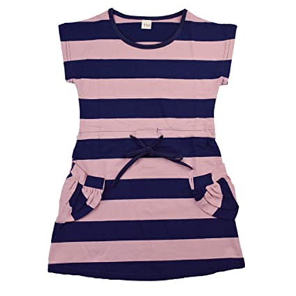 d74ff132a72d4 Amazon.com: ❤ Mealeaf ❤ Toddler Baby Girl Kid Striped Princess Dress Casual  Clothes(2-8 Years ): Home & Kitchen