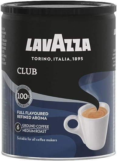Lavazza Café Molido Espresso Club, 100% Arábica, Paquete de 3 ...