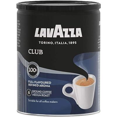 Lavazza Café Molido Espresso Club, 100% Arábica, Paquete de 3 Latas x 250 g (Total 0,75 kg)
