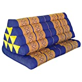 Relaxation cushion XXL with little attached extension - traditional thai pattern - pure cotton stuffed with kapok, HANDMADE - direct importing from Thailand (81816)