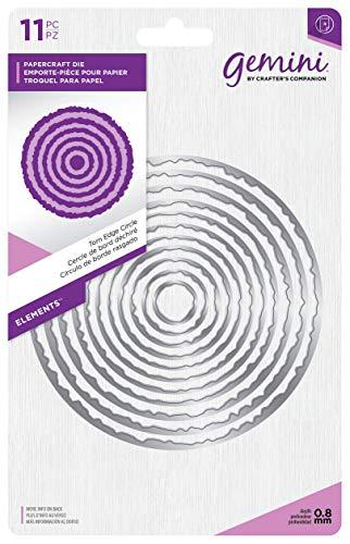 Gemini Elements-Torn Edge Circle, Silver, Various