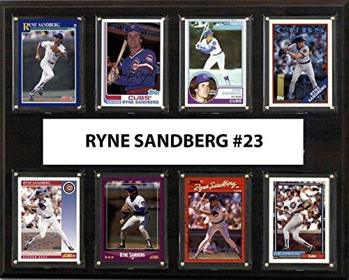 (C&I Collectables MLB Chicago Cubs Men's Ryne Sandberg 8-Card Plaque, Brown)